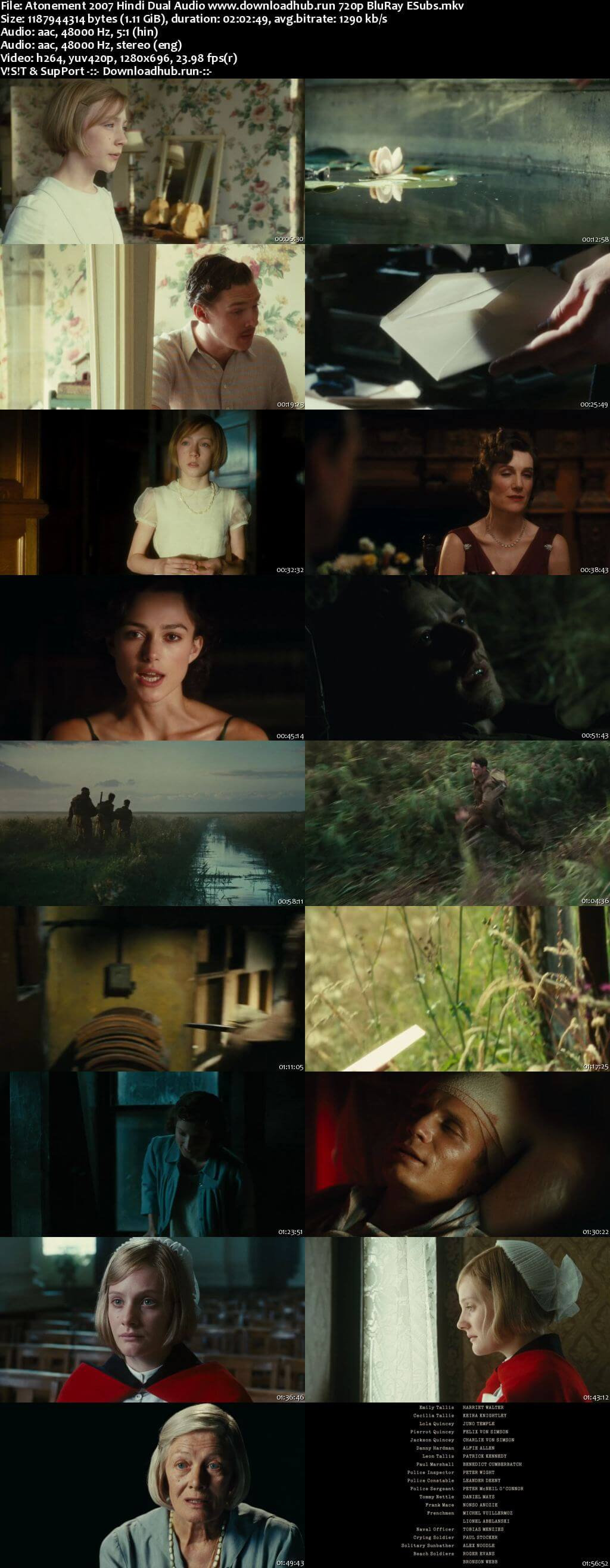 Atonement 2007 Hindi Dual Audio 720p BluRay ESubs
