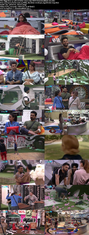 Bigg Boss 14 14th October 2020 Episode 11 720p 480p HDTV