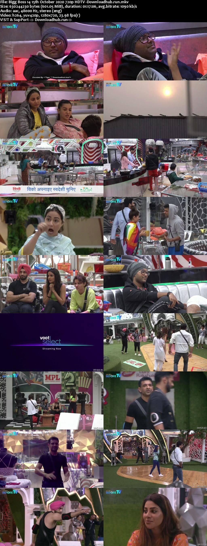 Bigg Boss 14 15th October 2020 Episode 12 720p 480p HDTV
