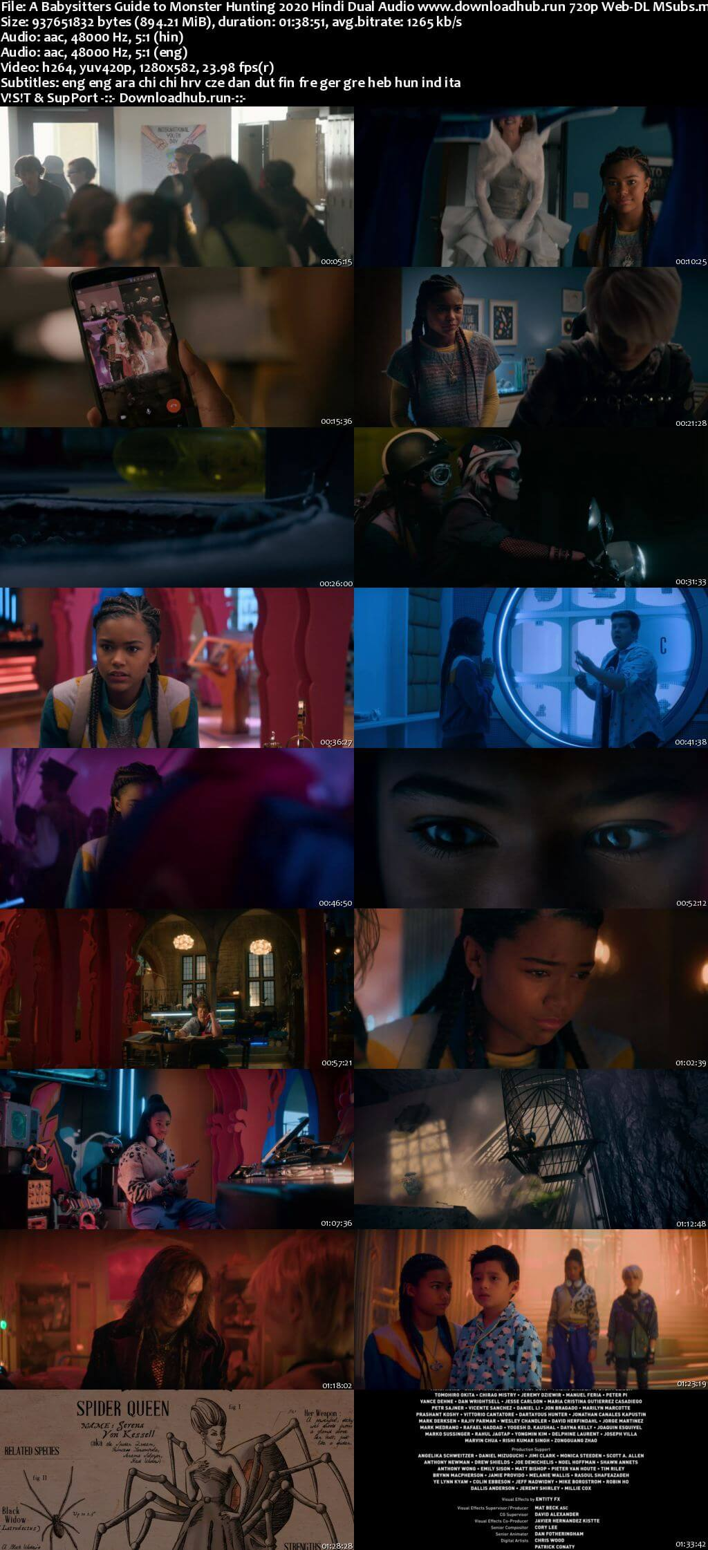 A Babysitters Guide to Monster Hunting 2020 Hindi Dual Audio 720p Web-DL MSubs