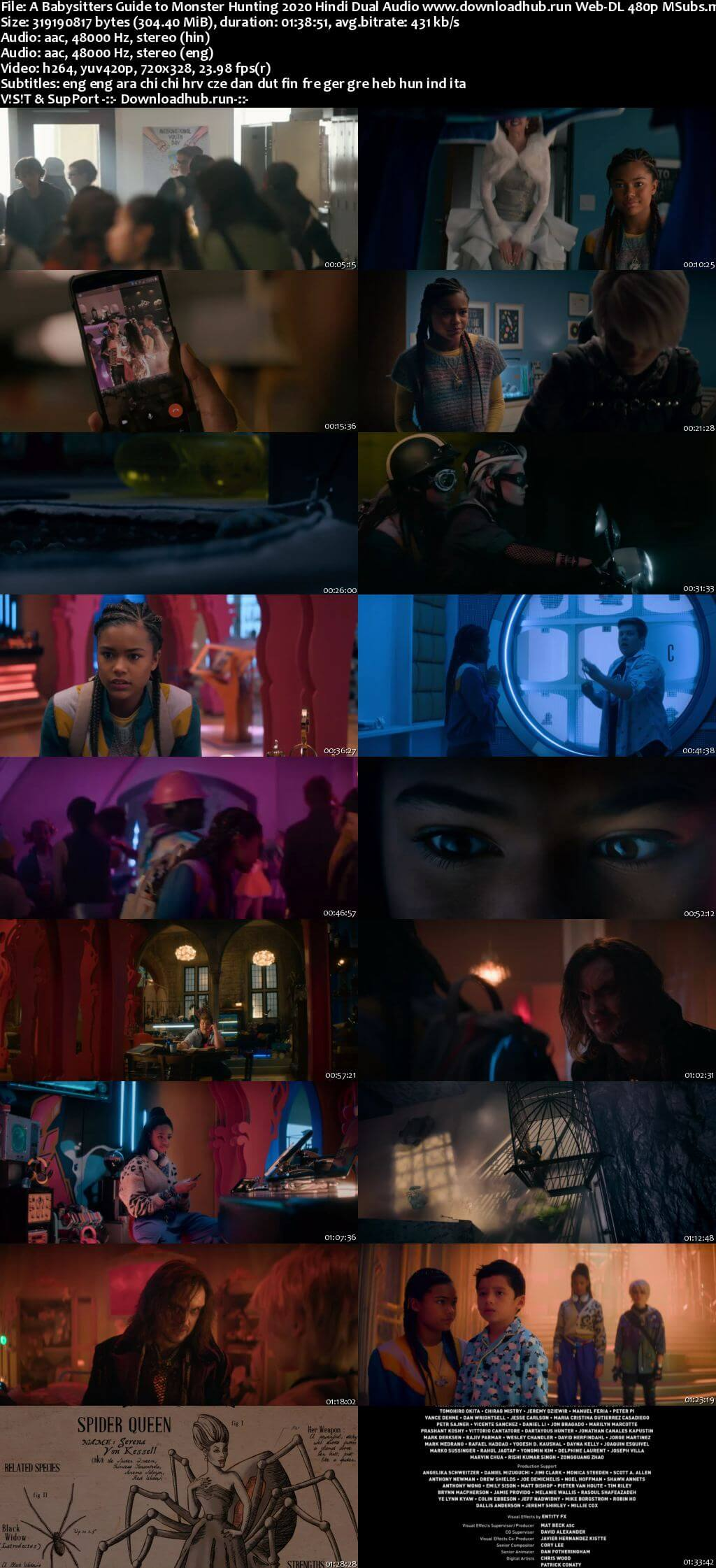 A Babysitters Guide to Monster Hunting 2020 Hindi Dual Audio 300MB Web-DL 480p MSubs