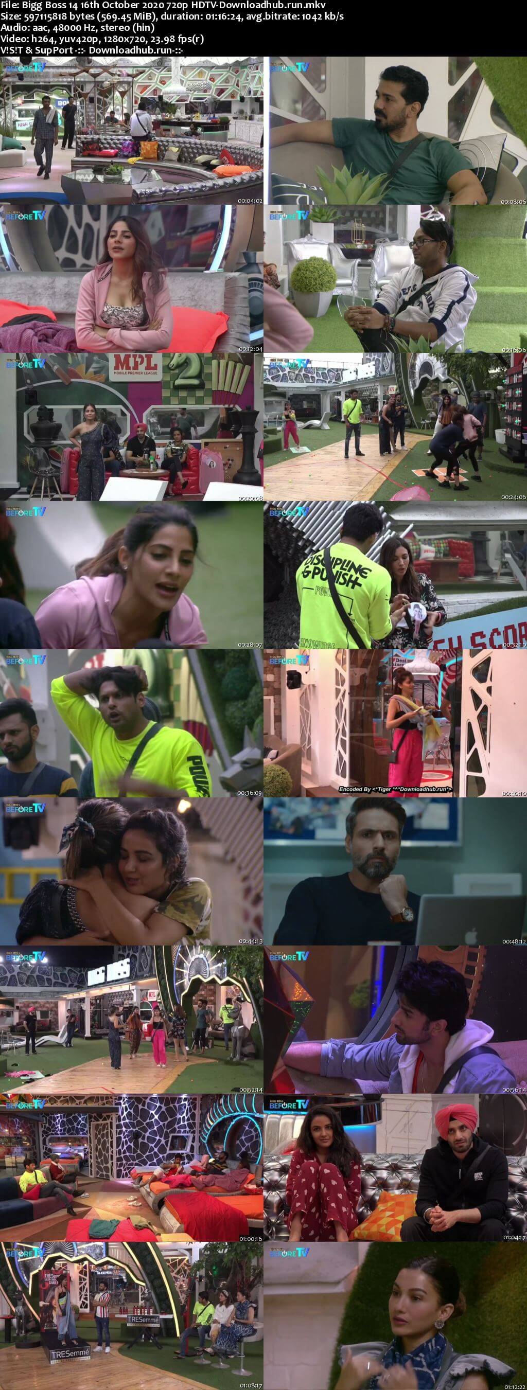 Bigg Boss 14 16th October 2020 Episode 13 720p 480p HDTV