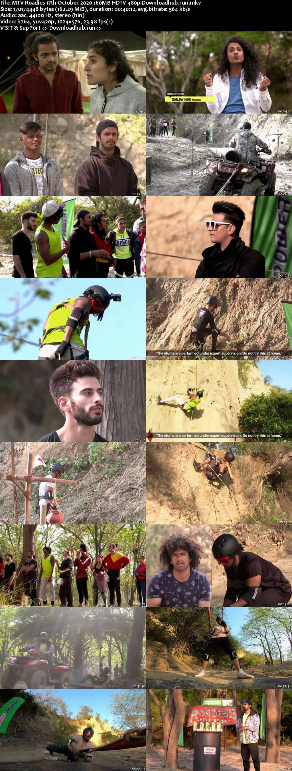 MTV Roadies 17th October 2020 160MB HDTV 480p