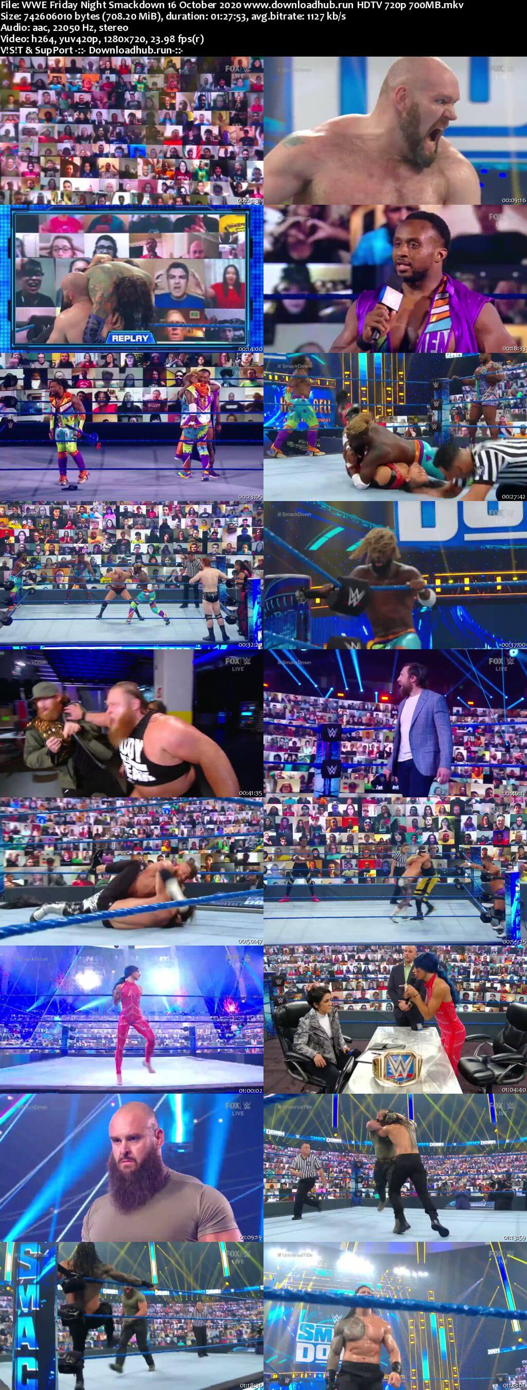 WWE Friday Night Smackdown 16th October 2020 720p 300MB HDTV 480p