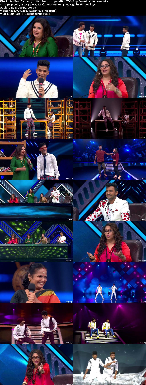 Indias Best Dancer 17 October 2020 Episode 37 HDTV 480p
