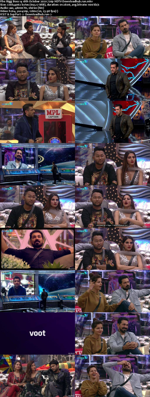Bigg Boss 14 18th October 2020 Episode 15 720p 480p HDTV