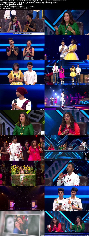 Indias Best Dancer 18 October 2020 Episode 38 HDTV 480p