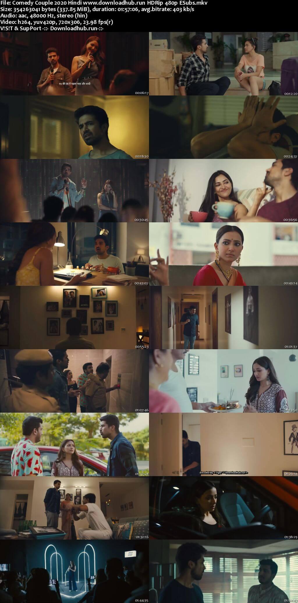 Comedy Couple 2020 Hindi 300MB HDRip 480p ESubs
