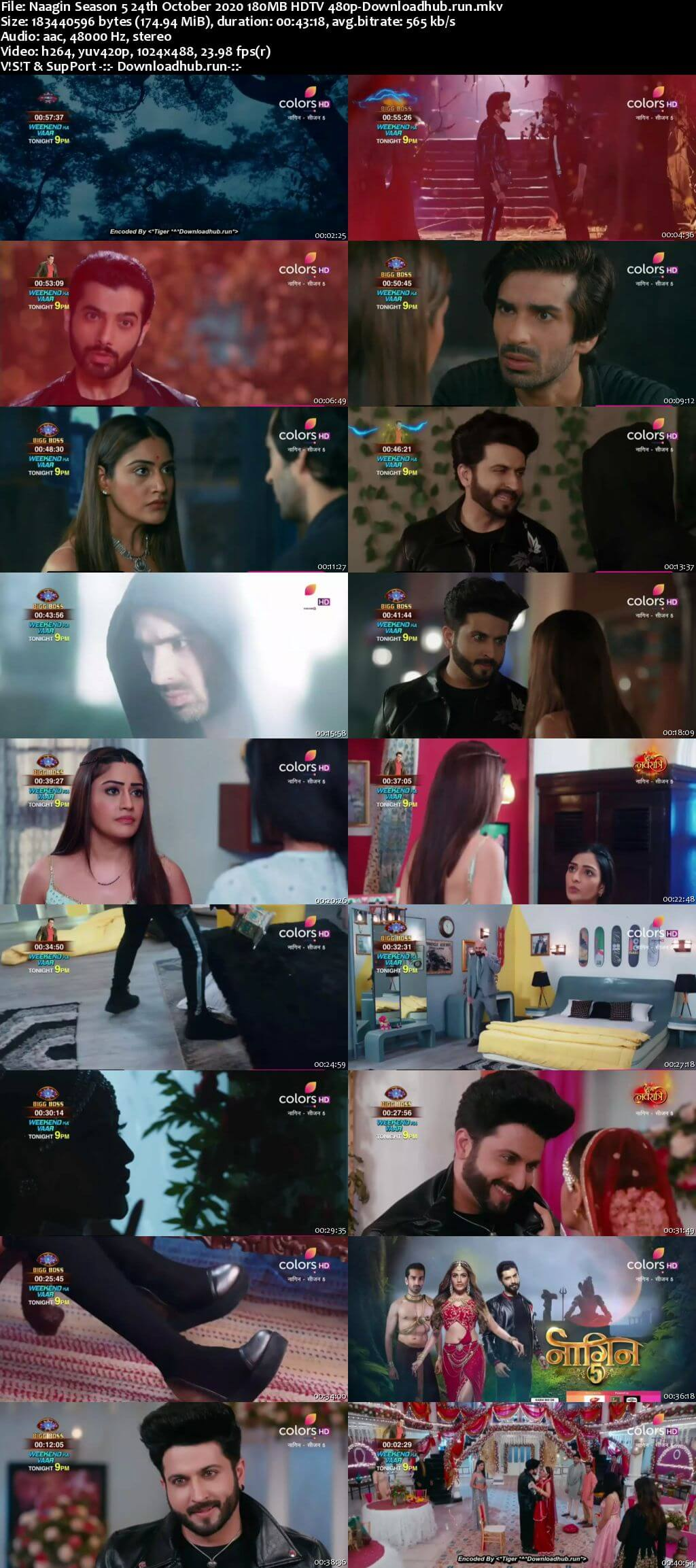 Naagin Season 5 24th October 2020 180MB HDTV 480p