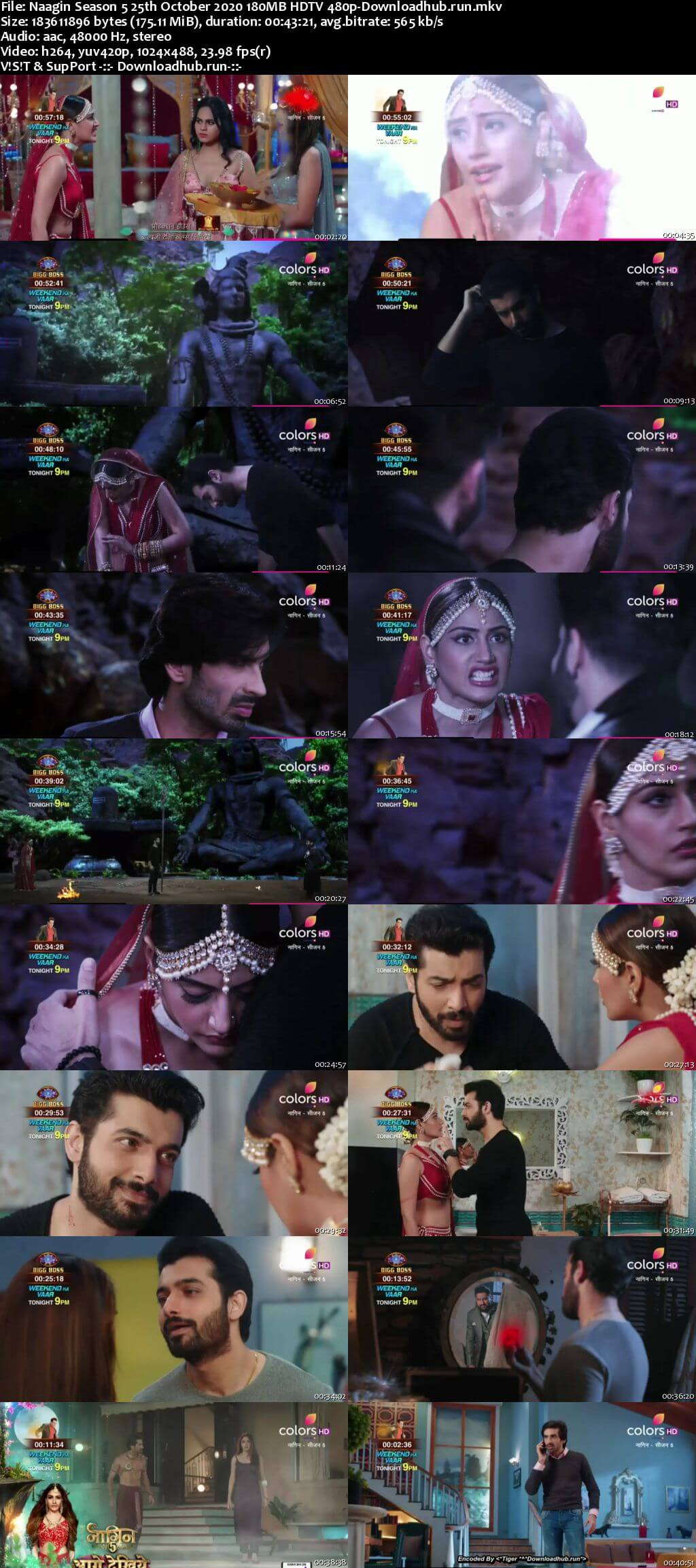 Naagin Season 5 25th October 2020 180MB HDTV 480p