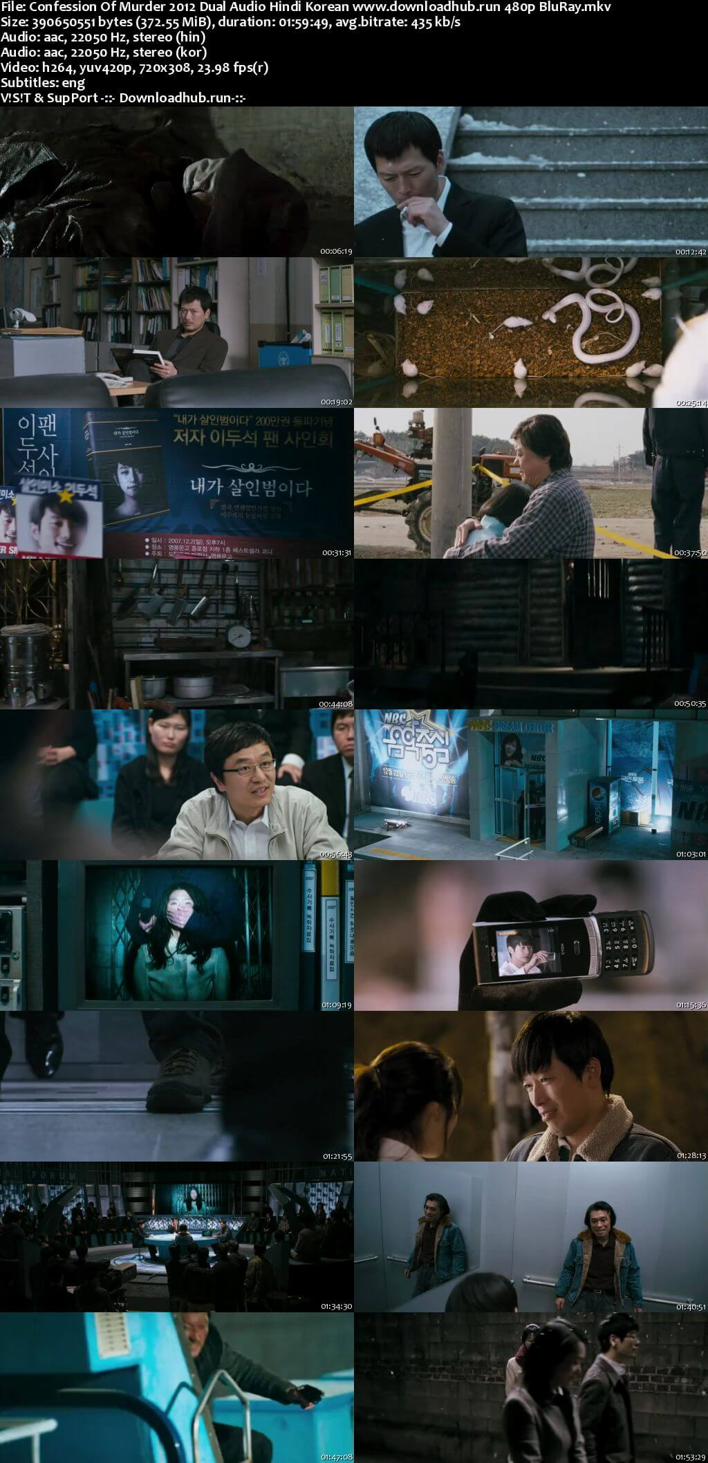 Confession of Murder 2012 Hindi Dual Audio 350MB BluRay 480p ESubs