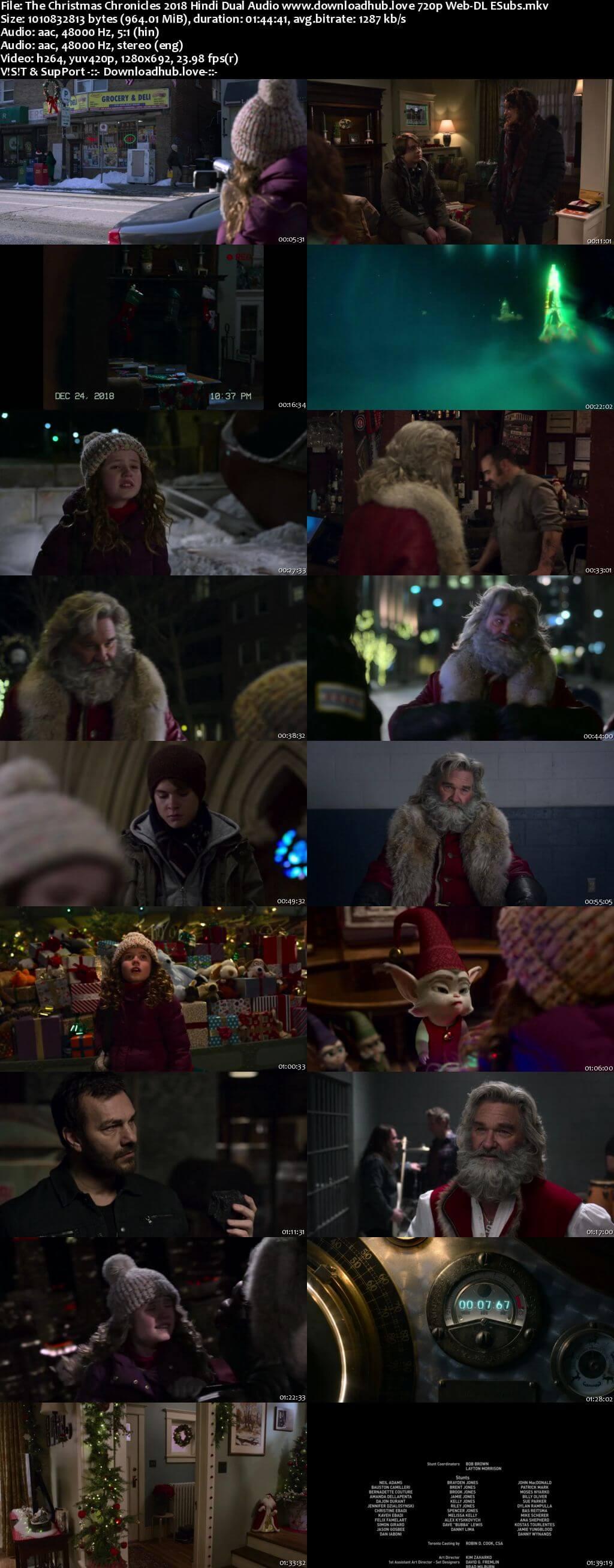 The Christmas Chronicles 2018 Hindi Dual Audio 720p Web-DL ESubs