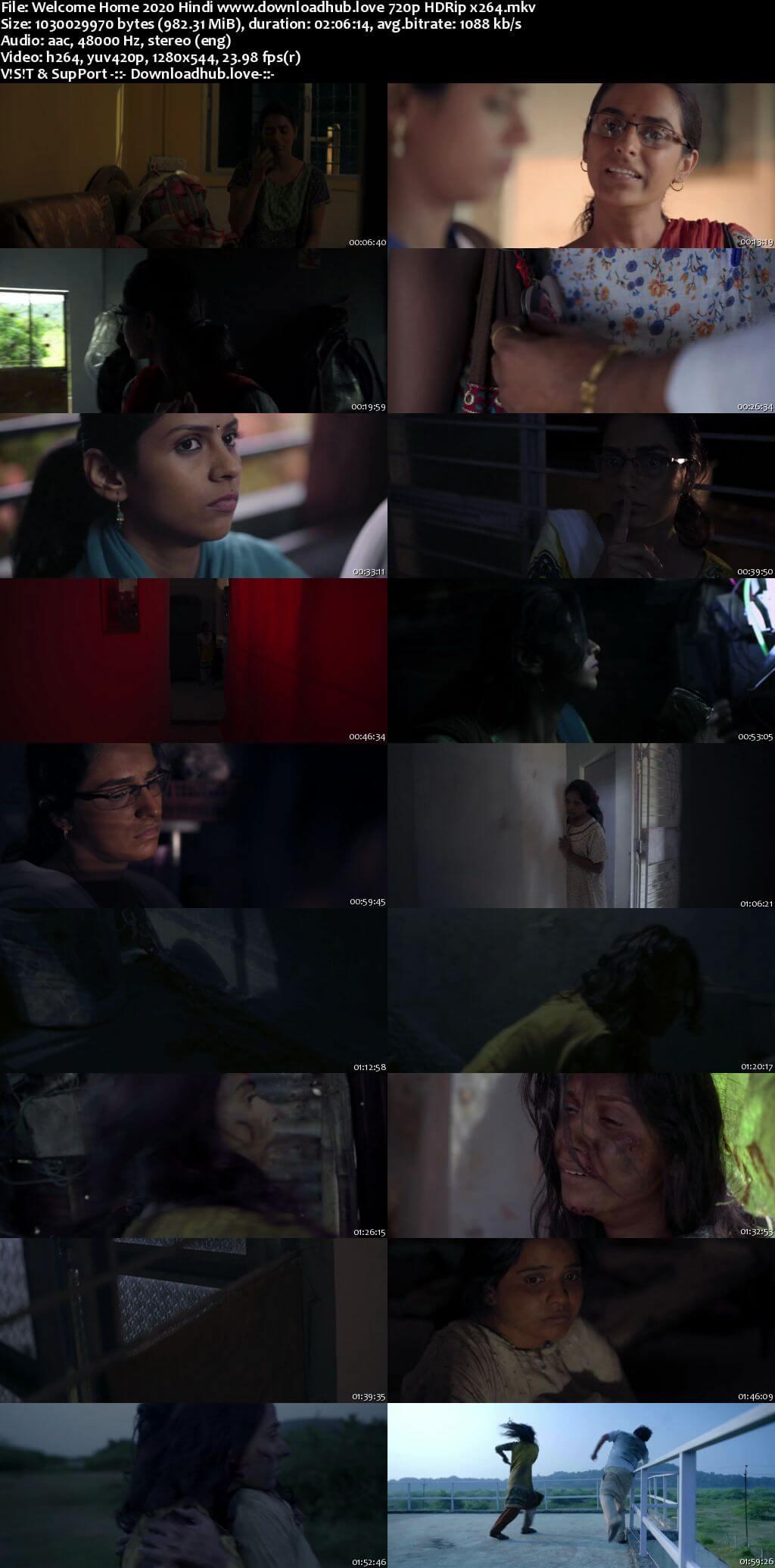 Welcome Home 2020 Hindi 720p HDRip x264