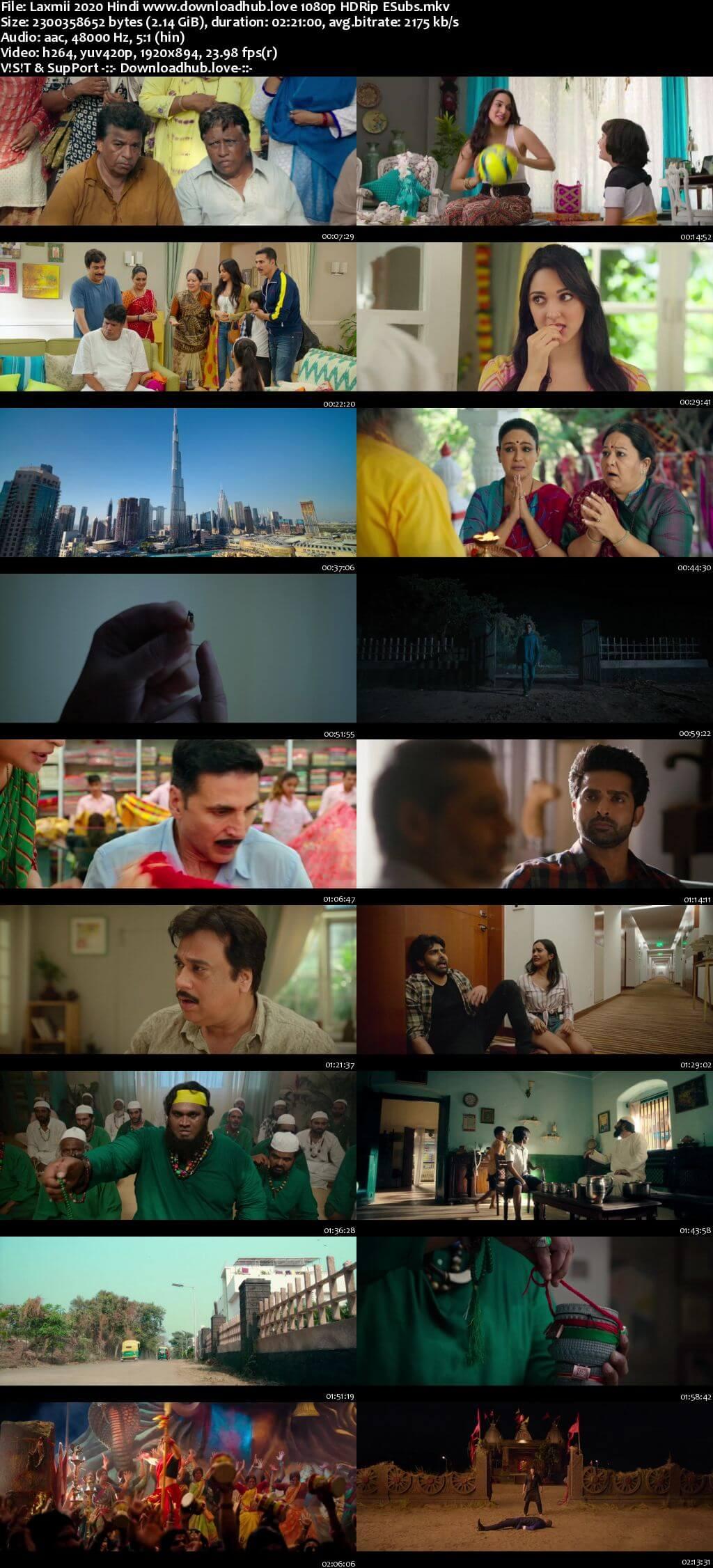 Laxmii 2020 Hindi 1080p HDRip ESubs