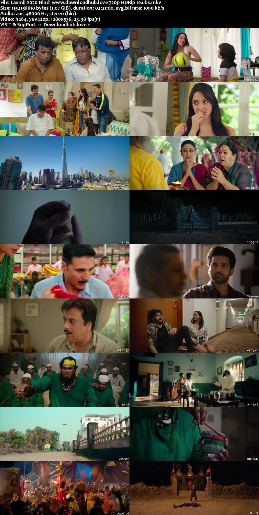 Laxmii 2020 Hindi 720p HDRip ESubs