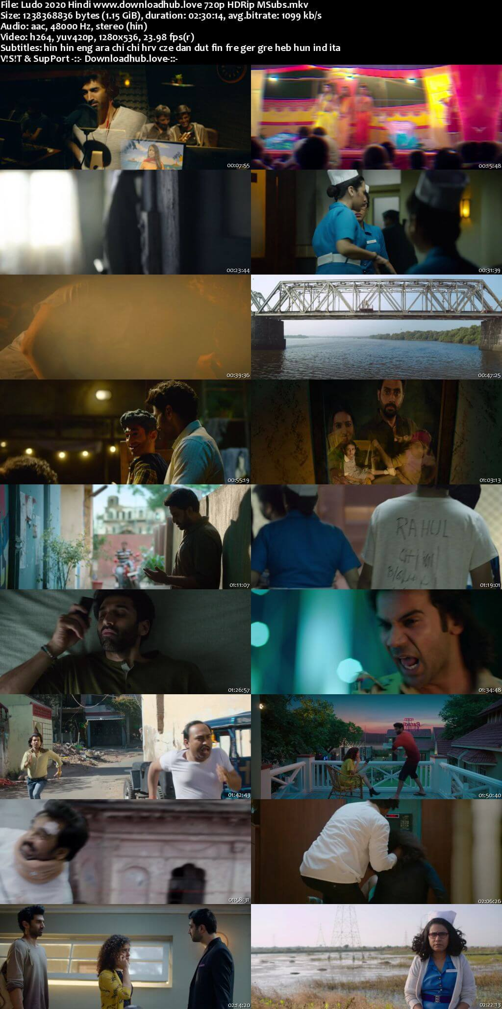 Ludo 2020 Hindi 720p HDRip MSubs