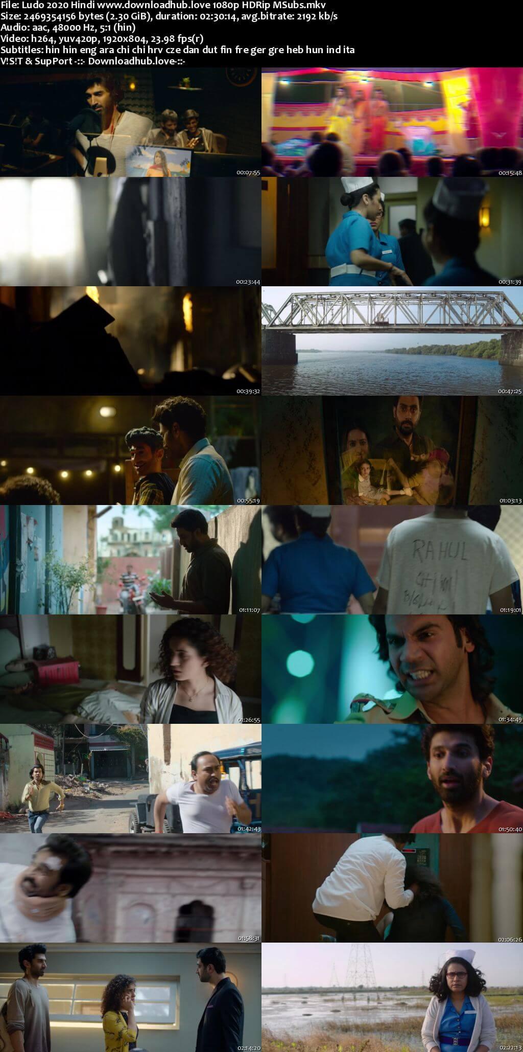 Ludo 2020 Hindi 1080p HDRip MSubs