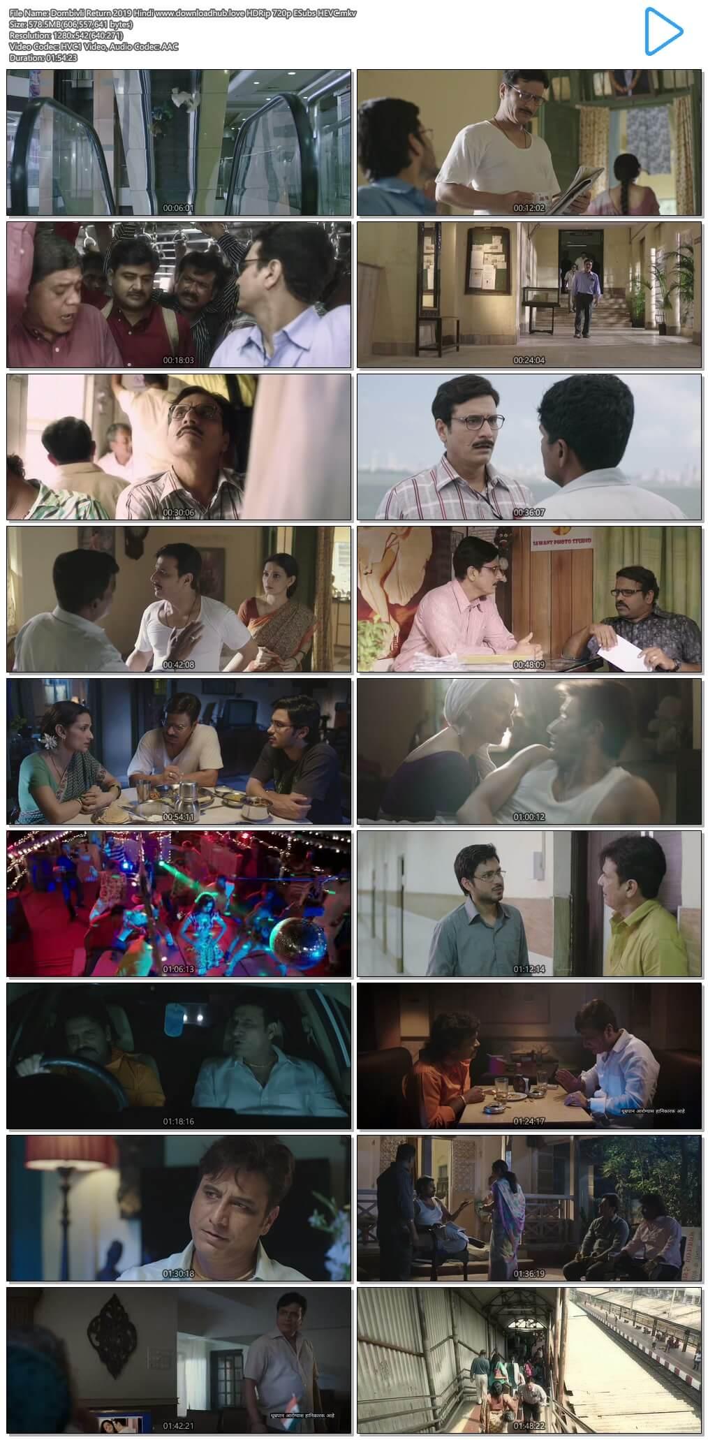 Dombivli Return 2019 Hindi 550MB HDRip 720p ESubs HEVC
