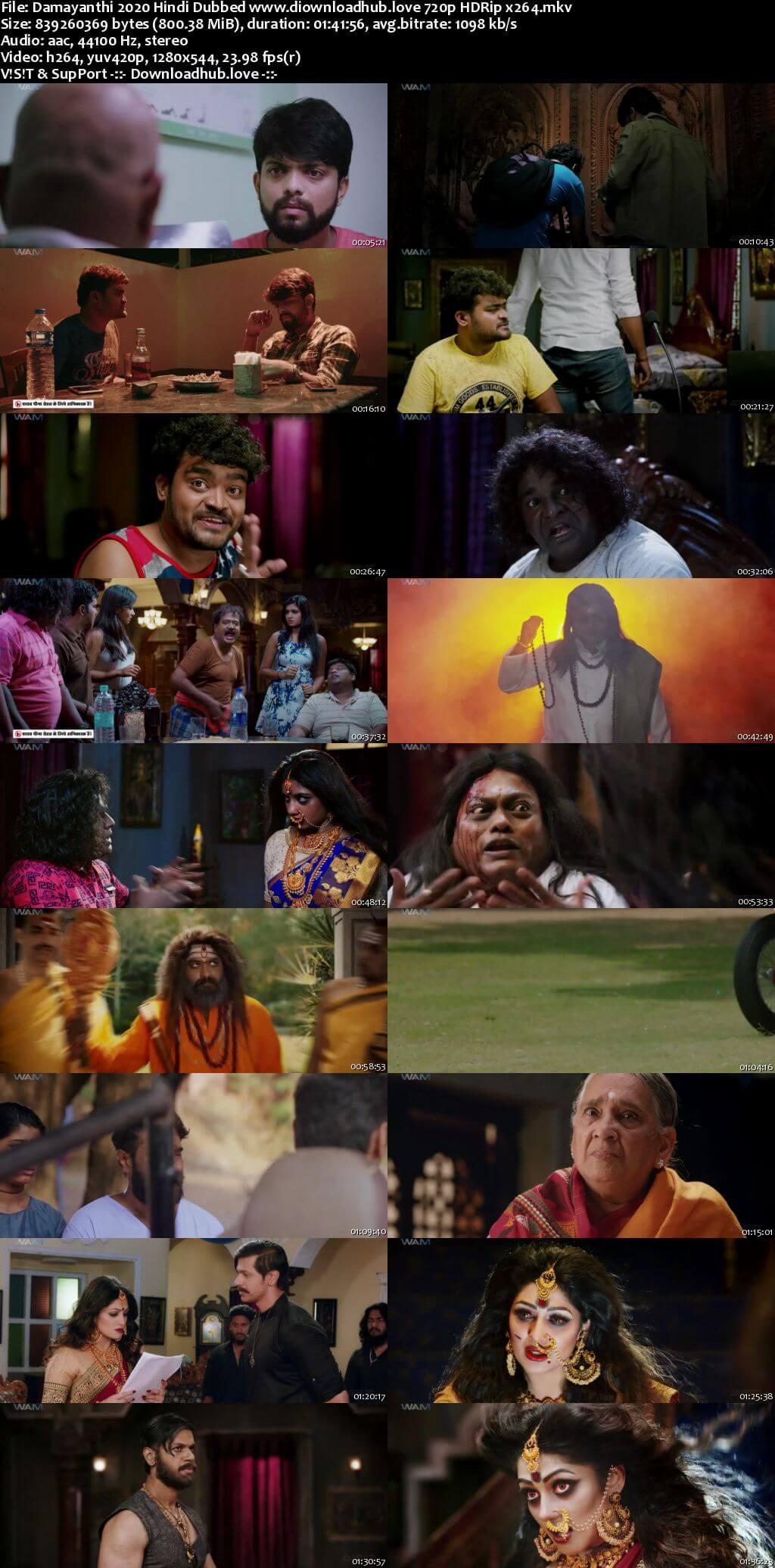 Damayanthi 2020 Hindi Dubbed 720p HDRip x264