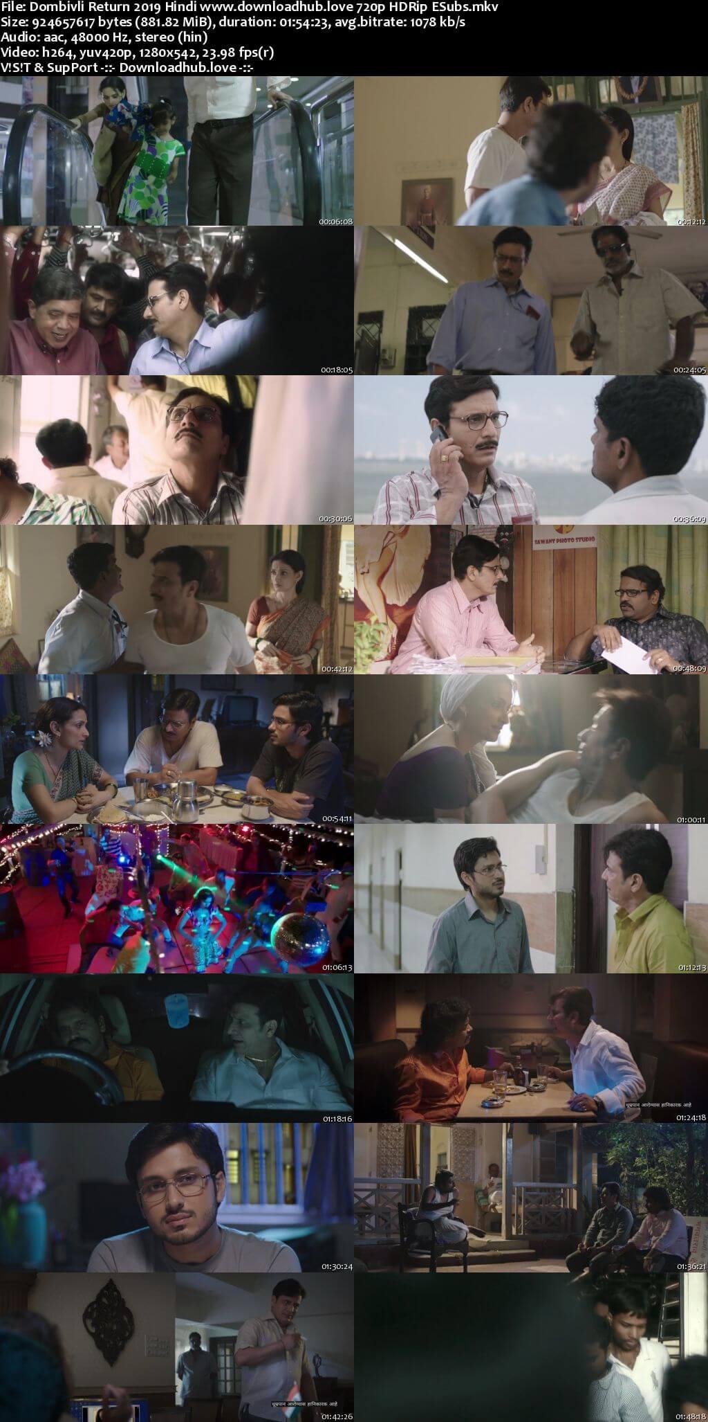 Dombivli Return 2019 Hindi 720p HDRip ESubs