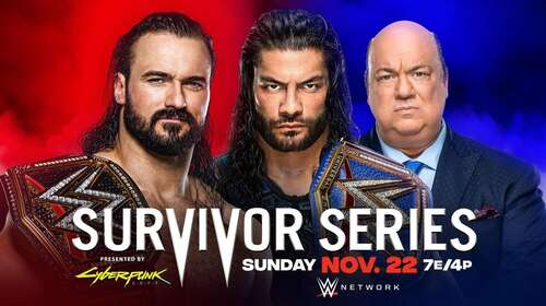 WWE Survivor Series 22nd November 2020 720p 800MB PPV WEBRip 480p