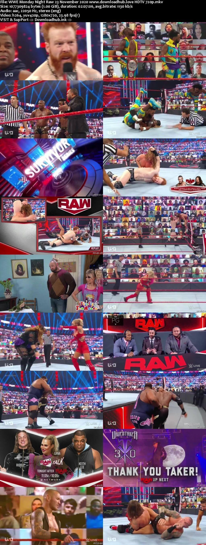 WWE Monday Night Raw 23rd November 2020 720p 500MB HDTVRip 480p