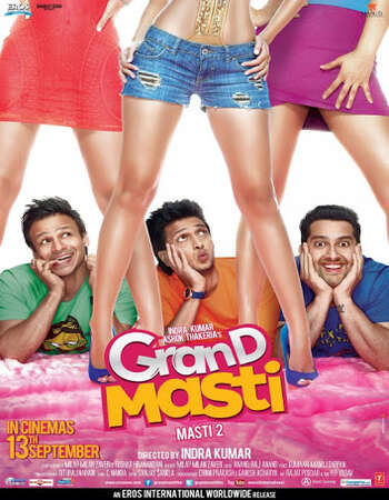 Grand Masti 2013 Hindi 400MB HDRip 480p ESubs