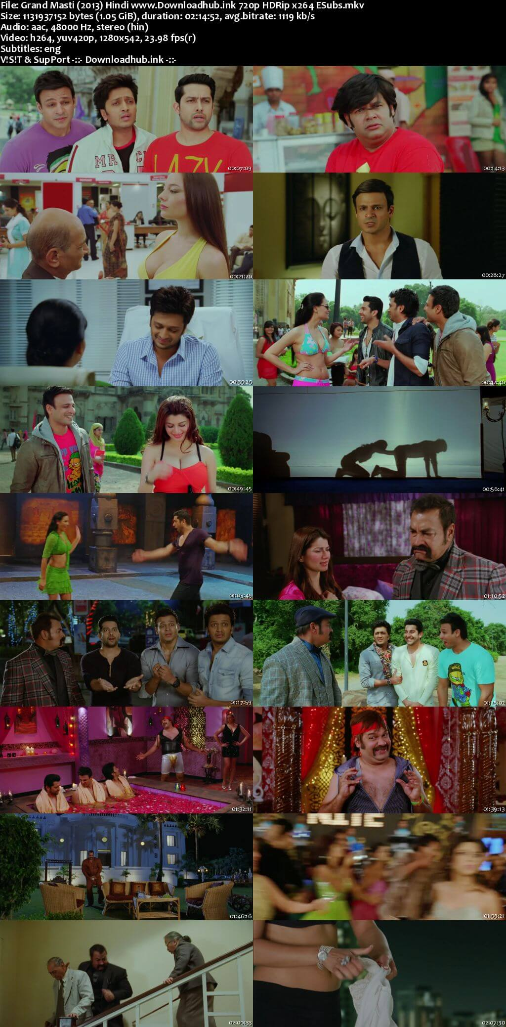 Grand Masti 2013 Hindi 720p HDRip ESubs