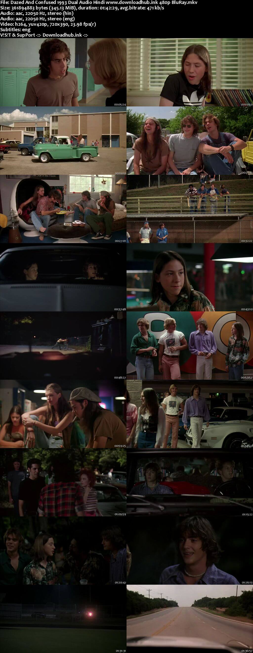 Dazed and Confused 1993 Hindi Dual Audio 300MB BluRay 480p ESubs