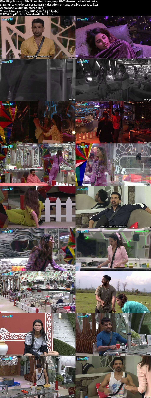 Bigg Boss 14 26th November 2020 Episode 54 720p 480p HDTV