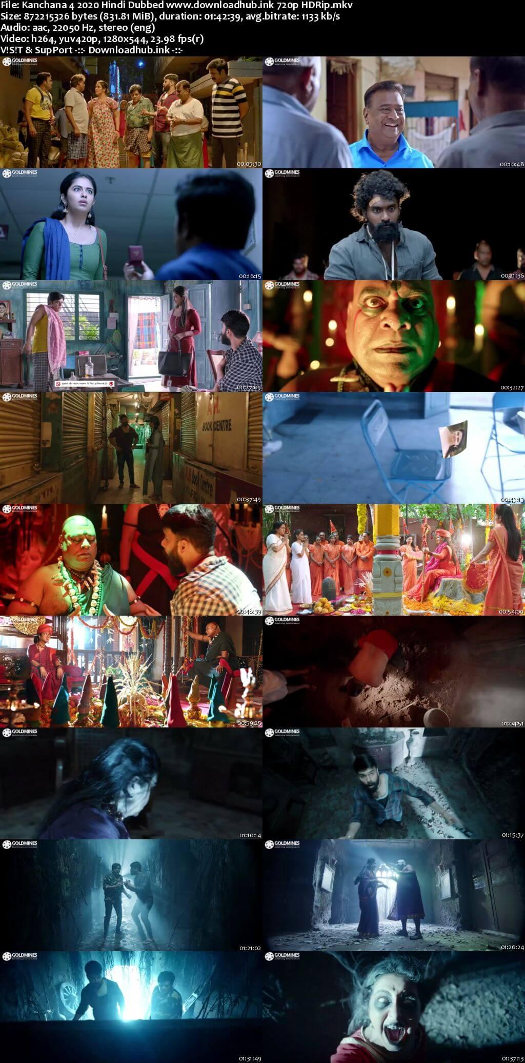 Kanchana 4 2020 Hindi Dubbed 720p HDRip x264