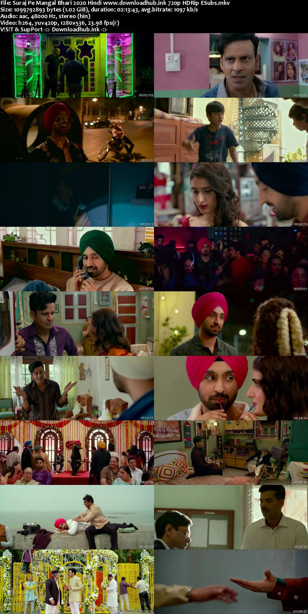 Suraj Pe Mangal Bhari 2020 Hindi 720p HDRip ESubs