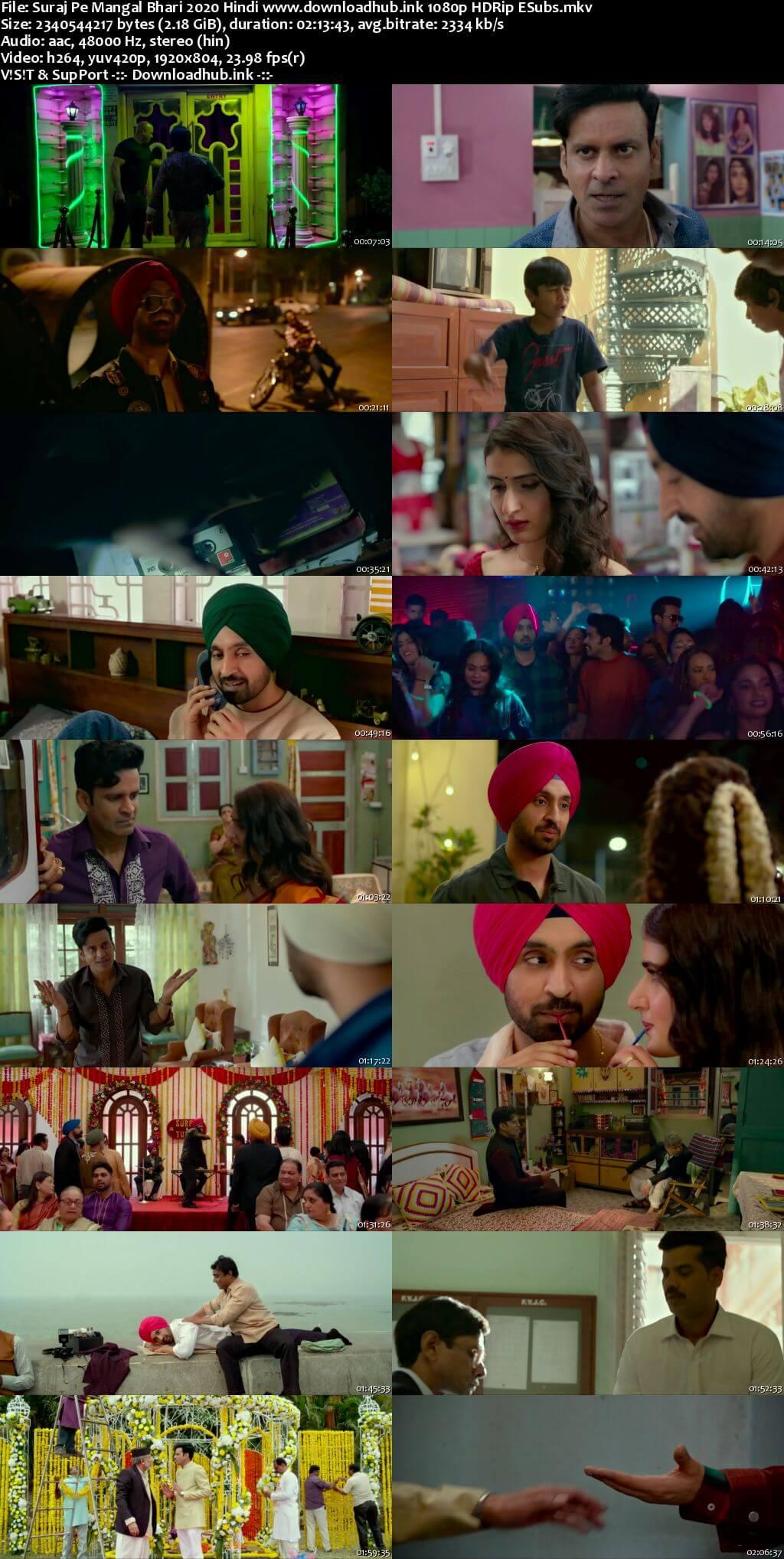 Suraj Pe Mangal Bhari 2020 Hindi 1080p HDRip ESubs