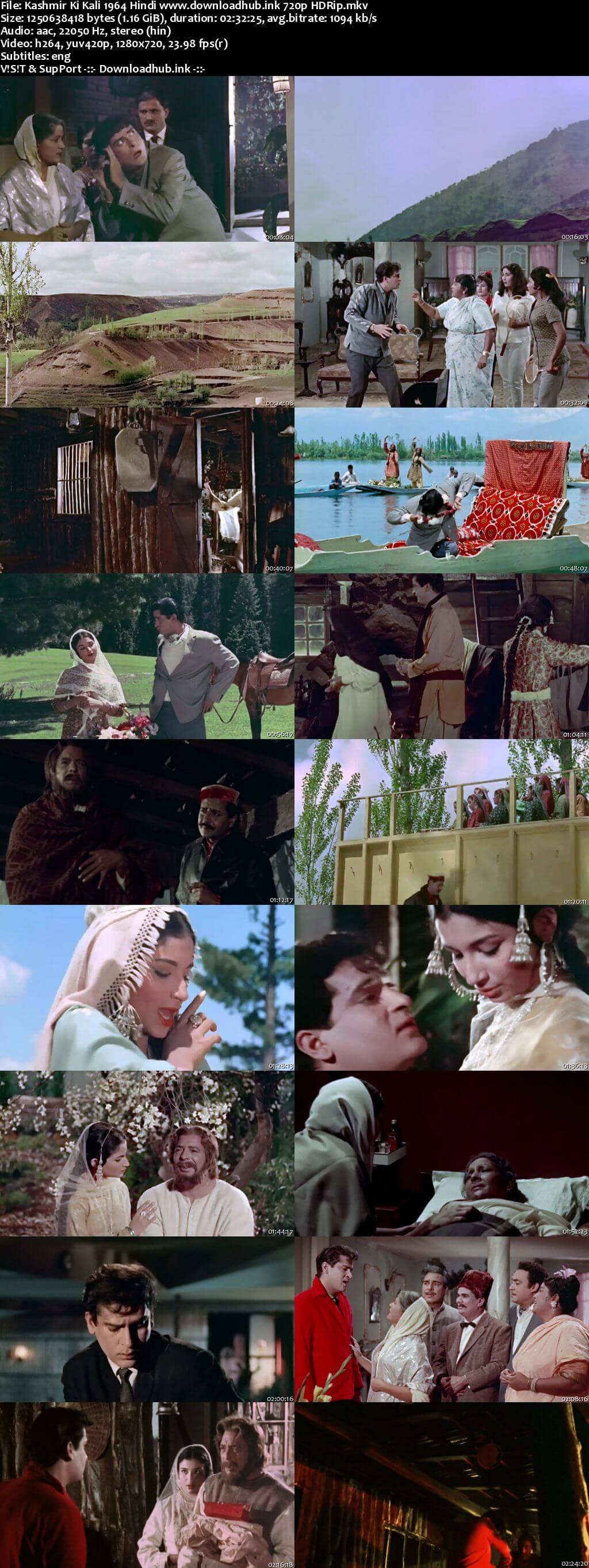 Kashmir Ki Kali 1964 Hindi 720p HDRip ESubs