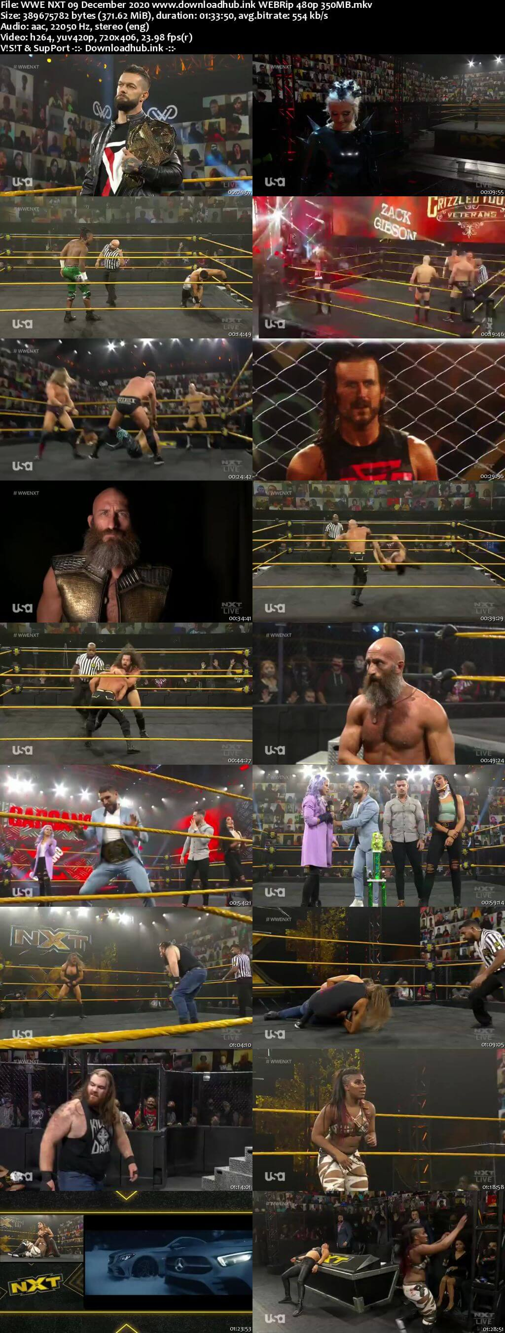 WWE NXT 9th December 2020 350MB HDTV 480p