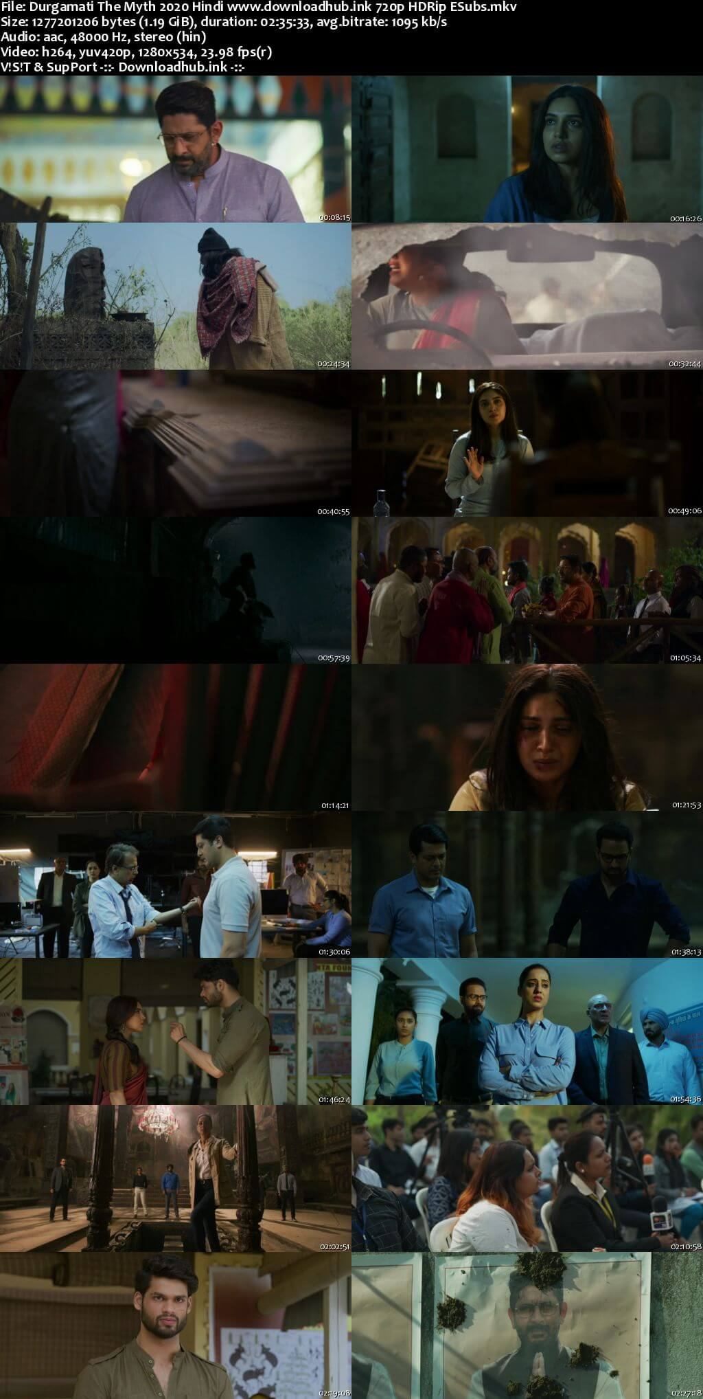 Durgamati The Myth 2020 Hindi 720p HDRip ESubs