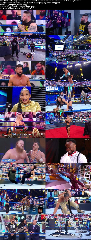 WWE Friday Night Smackdown 18th December 2020 720p 300MB HDTV 480p