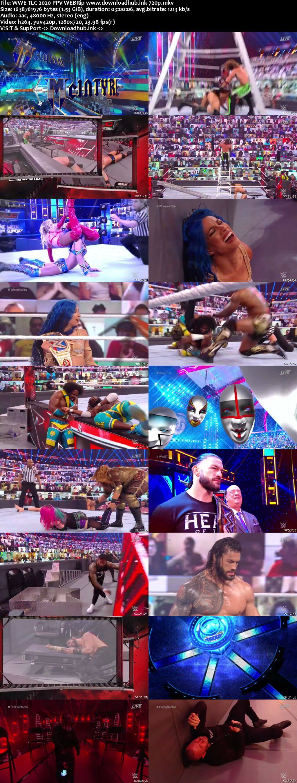 WWE TLC 20th December 2020 720p 750MB PPV WEBRip 480p