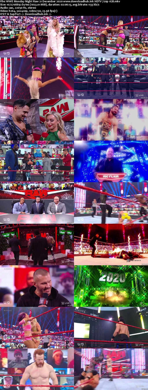 WWE Monday Night Raw 21st December 2020 720p 500MB HDTVRip 480p