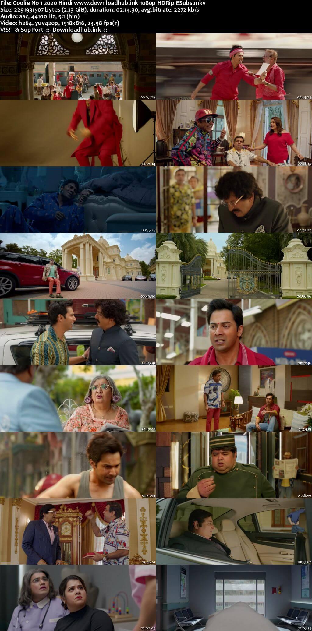 Coolie No 1 2020 Hindi 1080p HDRip ESubs