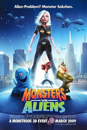 Monsters vs Aliens 2009 Dual Audio Hindi English BRRip 720p 480p Movie Download