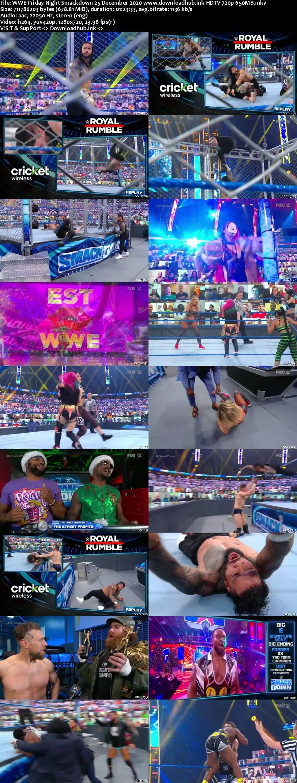 WWE Friday Night Smackdown 25th December 2020 720p 300MB HDTV 480p