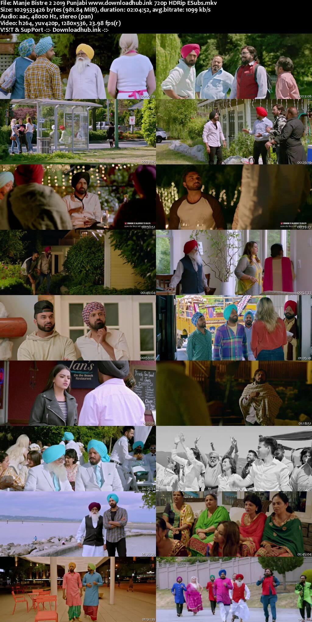 Manje Bistre 2 2019 Punjabi 720p HDRip ESubs