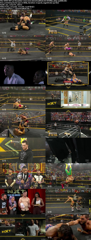 WWE NXT 30th December 2020 350MB HDTV 480p