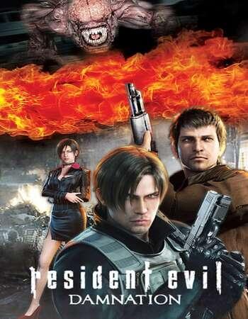Resident Evil Damnation 2012 Hindi Dual Audio 720p BluRay ESubs