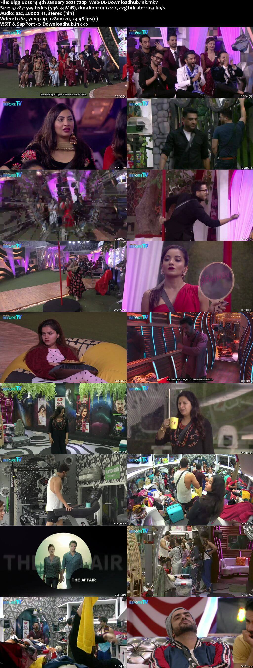 Bigg Boss 14 4th January 2021 Episode 93 720p 480p Web-DL