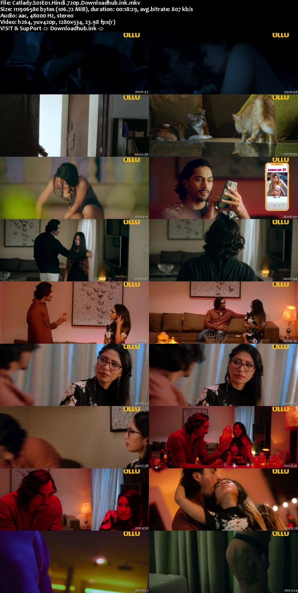 Catlady 2021 Hindi S01 ULLU WEB Series 720p HDRip x264
