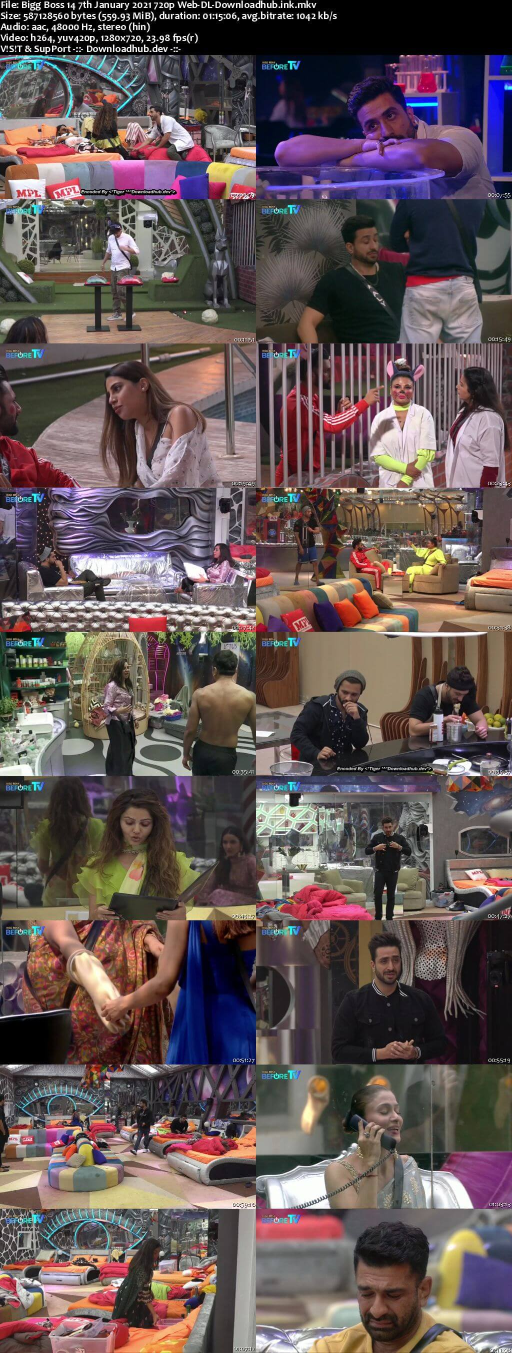 Bigg Boss 14 7th January 2021 Episode 96 720p 480p Web-DL
