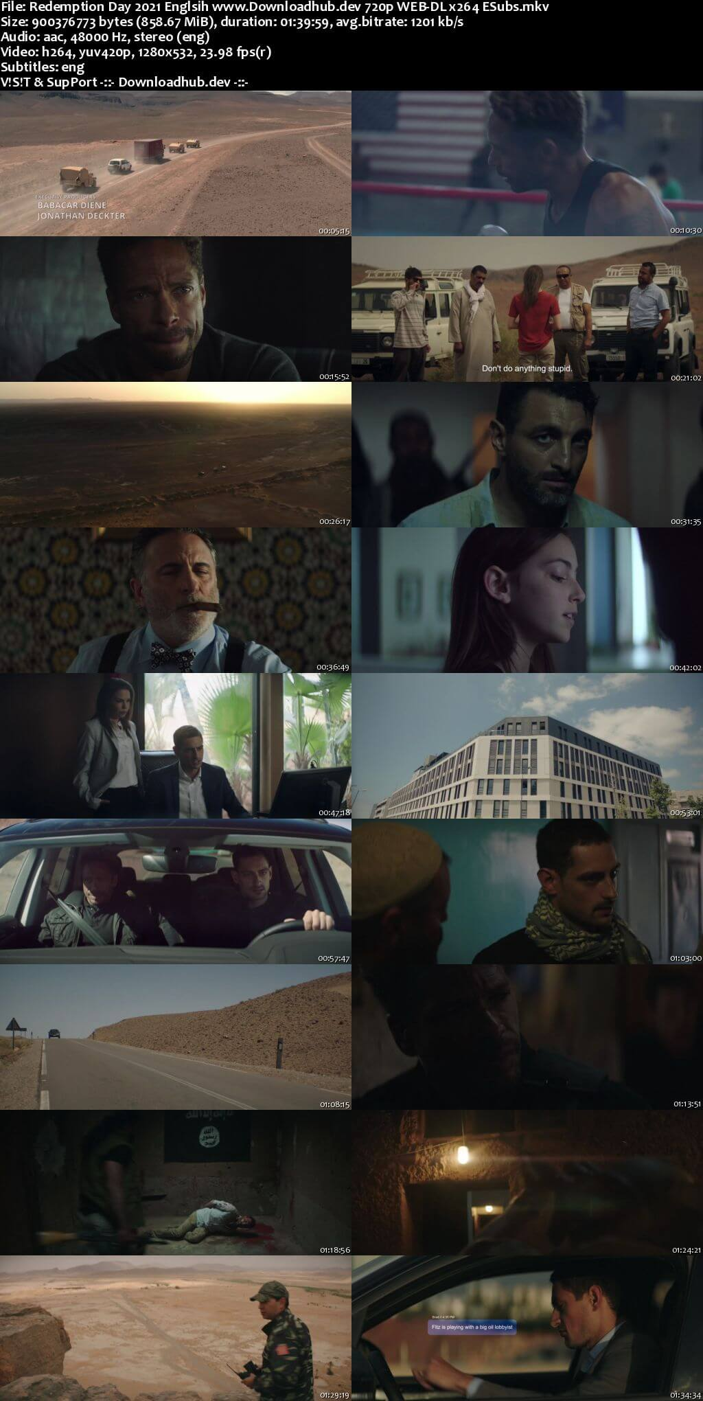 Redemption Day 2021 English 720p Web-DL 850MB ESubs
