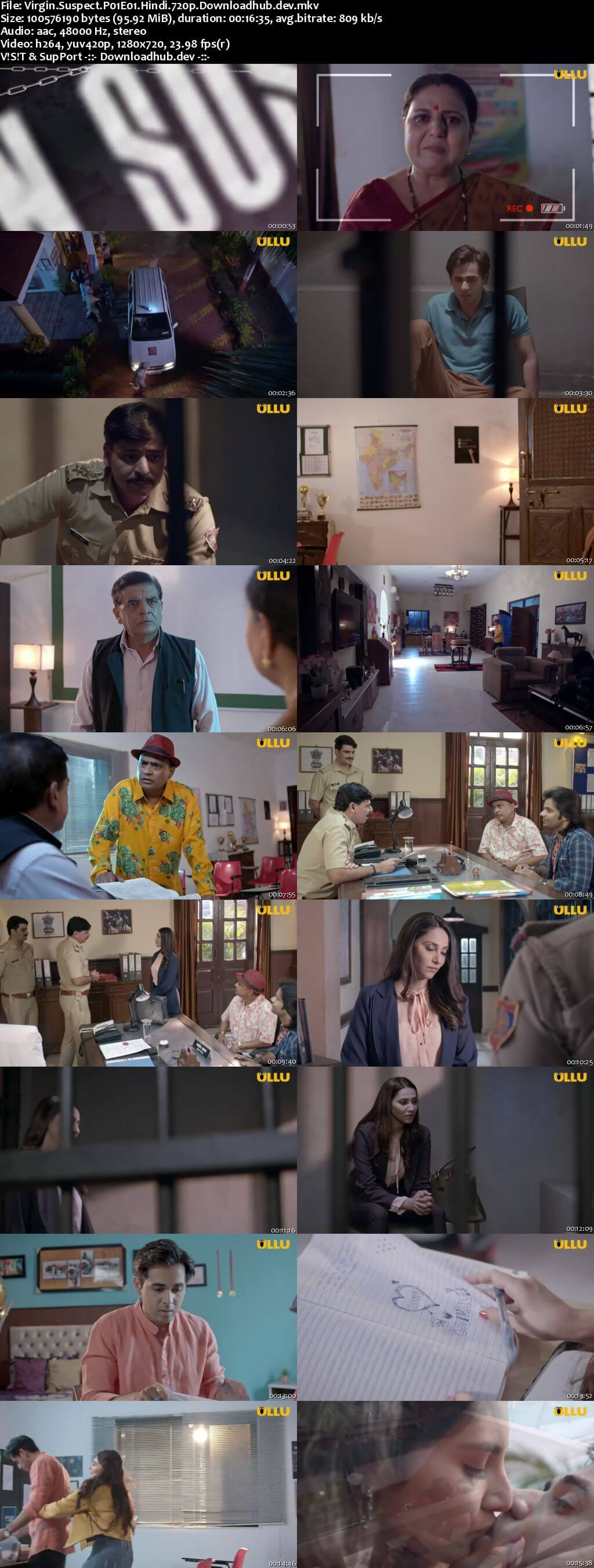 Virgin Suspect 2021 Hindi Part 1 ULLU WEB Series 720p HDRip x264